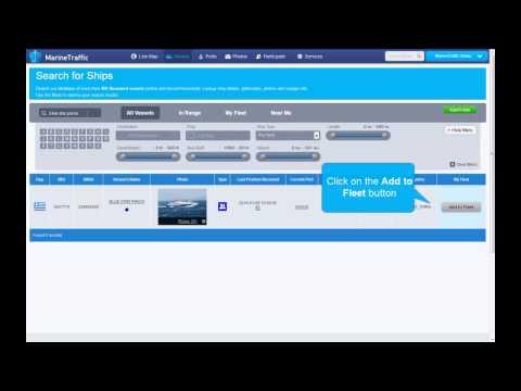[MarineTraffic.com]  Adding vessels to my Fleet