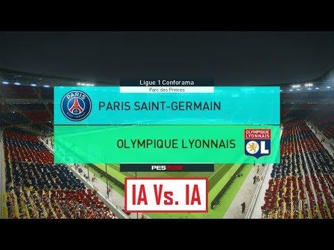 Paris - Lyon [PES 2018] | Ligue 1 Conforama 2017-2018 (6ème Journée) | IA Vs. IA
