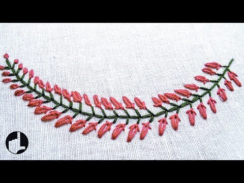 Beautiful Embroidery Pattern for Collars, Baby pillow cases etc...   HandiWorks #35