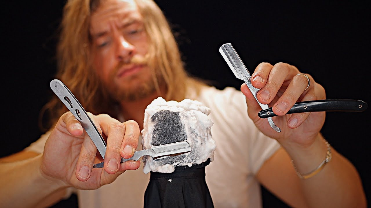 Ultra Fast RAW Barbershop Razor Shave Sounds 🪒💈ASMR💈🪒