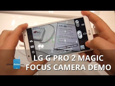 Magic Focus camera demo on the LG G Pro 2