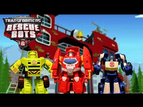 RESCUE BOT Toys, Episode 1: Dinosaur Crisis - it's Rescue Bots vs. Dinosaurs