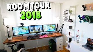 Mein 2018 Gaming Setup & Room Tour! - TrilluXe