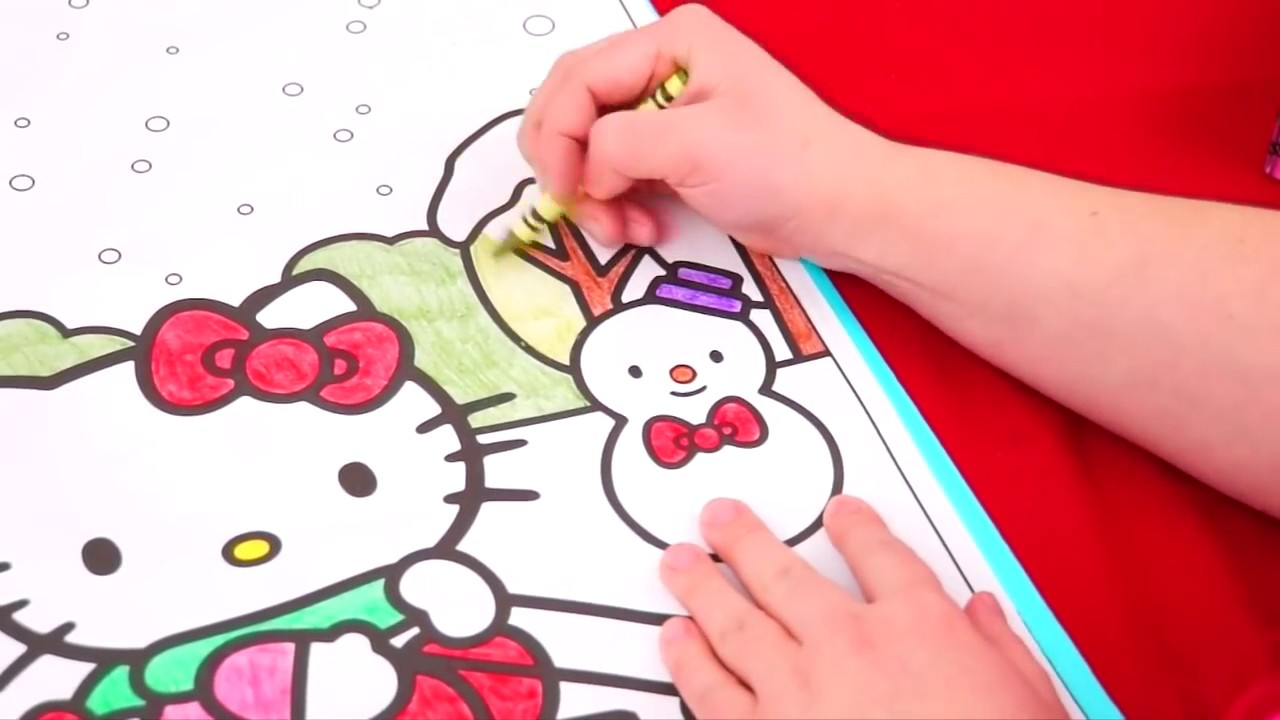 Hello Kitty Christmas GIANT Coloring Page