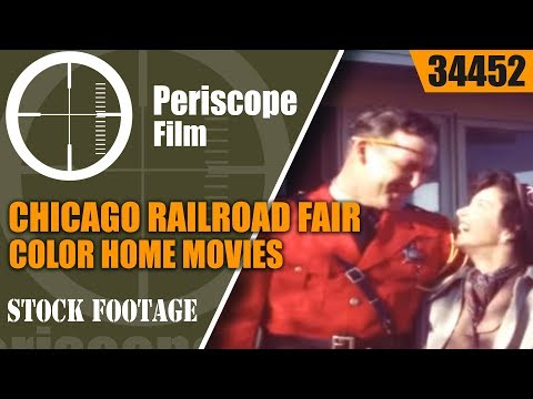 CHICAGO RAILROAD FAIR COLOR HOME MOVIES  1948   34452