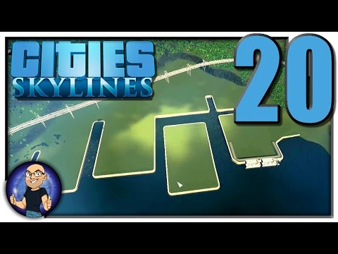 BUILDING A HARBOR FOR TASTY TOWN!! - Cities: Skylines Gamepl
