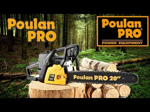 Poulan Pro Chainsaw 20 ich Bar and Chain Unboxing and How To Cut Down a Tree using Hinge System