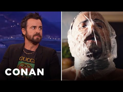 "Justin Theroux Had To Suffocate Himself On ""The Leftovers""  - CONAN on TBS"