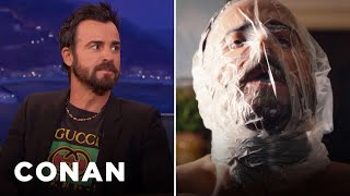 """Justin Theroux Had To Suffocate Himself On """"The Leftovers""""  - CONAN on TBS"""