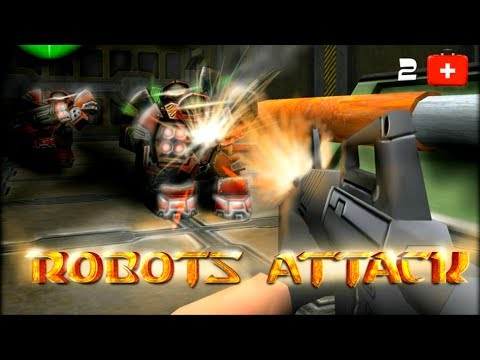 Robots Attack Shooter 3D Android GamePlay Trailer (HD) [Game For Kids]