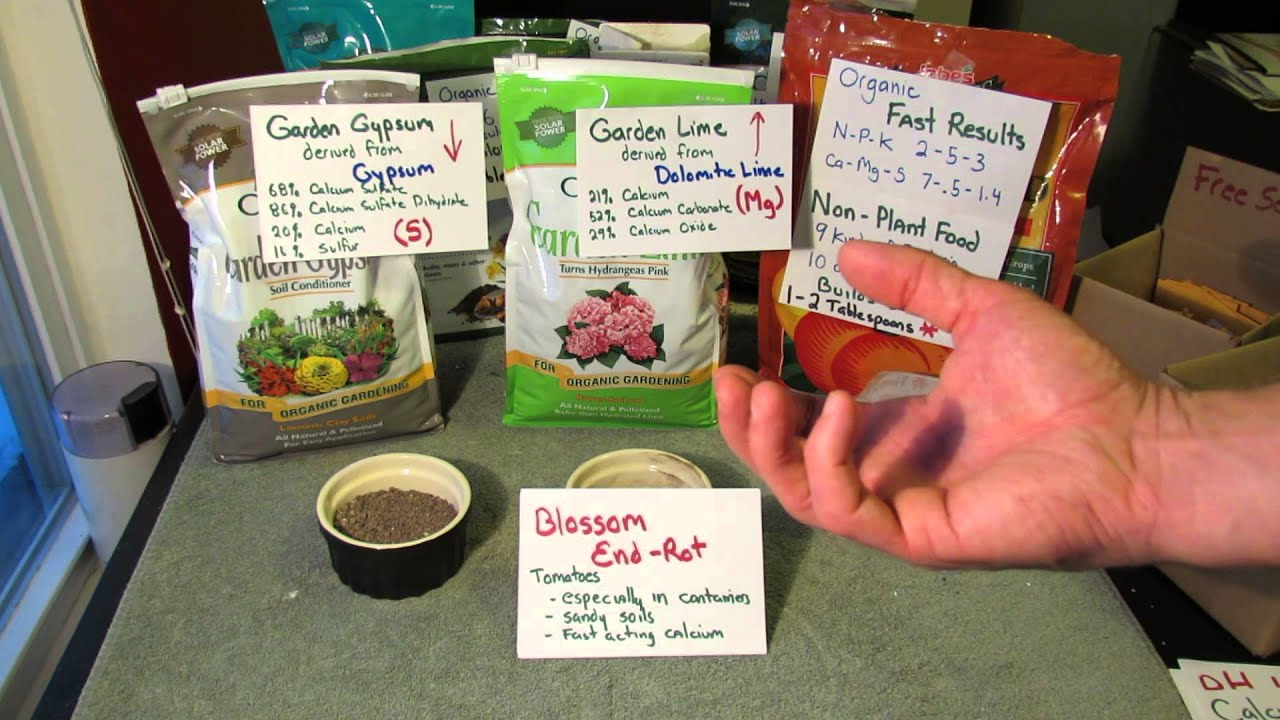 Understanding Garden Calcium Dolomitic Lime Gypsum Slow Fast