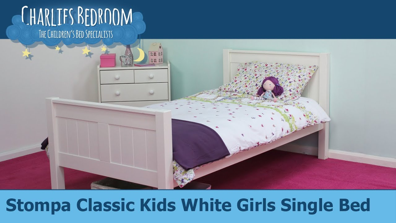 Stompa Classic Bunk Bed Stompa Classic Kids White Girls Single Bed Charlies Bedroom
