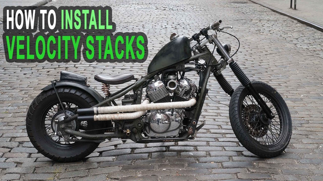 How To Install Velocity Stacks On Honda Shadow - AND NOT DESTROY YOUR  INTAKE!