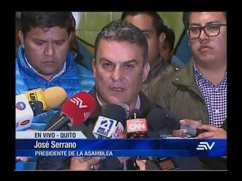 Declaraciones de José Serrano sobre entrega de Carlos Pareja Yannuzzelli