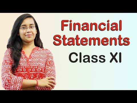 Financial Statements - Introduction (Accounts Class 11th)