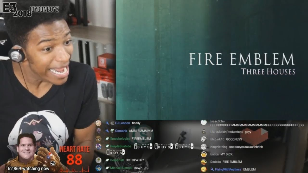 Etika Reacts to Fire Emblem: Three Houses E3 2018 Trailer [Etika Stream Highlight]