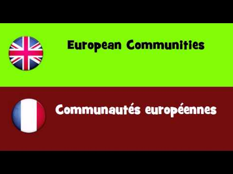 FROM ENGLISH TO FRENCH = European Communities
