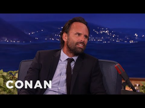 Walton Goggins Is A HogCalling Champion   CONAN on TBS