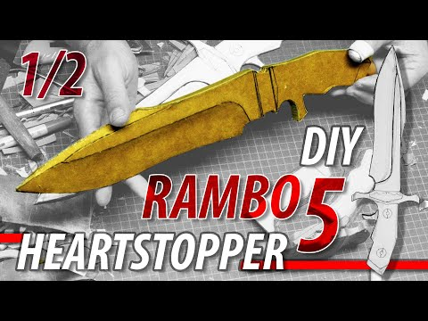 How to DIY the Rambo 5 Heartstopper from Cardboard. Don't be fooled by the Material. It is Awesome!