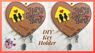 DIY Key Holder using cardboard | Handmade crafts | Best use of waste cardboard