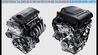 Причины задиров и проворотов вкладышей в двигателях корейских автомобилей