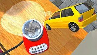 BeamNG.drive - Car Falls into Giant Blender (Kitchen Blender Crushing Vehicles)