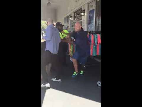 Thief Gets Stopped By Customers At Sunglass Hut In Broadway At The Beach, South Carolina.