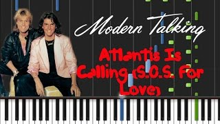 Modern Talking - Atlantis Is Calling (S.O.S. For Love) Synthesia Tutorial
