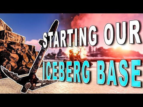 STARTING our TITANIC ICEBERG Base! | Rust Duo Survival #6