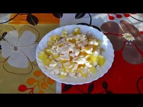 Cалат с ананасами. Салат с ананасом рецепт. Салат куриный с ананасами.