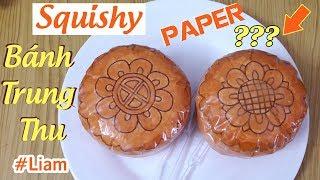 Cách làm Squishy Giấy 3D BÁNH TRUNG THU | DIY Paper Squishy 3D MOON CAKE | Liam Channel