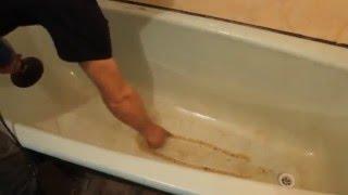 видео Как восстановить чугунную ванну наливным акрилом