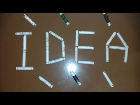 Best use of waste thread empty roll idea /Recycle idea /Waste material craft  (48)