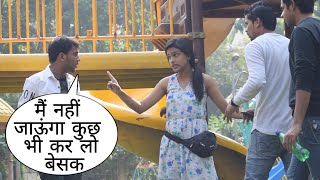 Mai Nhi Jaunga Yhan Se Kuch Bhi Karlo Besak Prank On Cute Girls By Desi Boy With Twist Epic Reaction