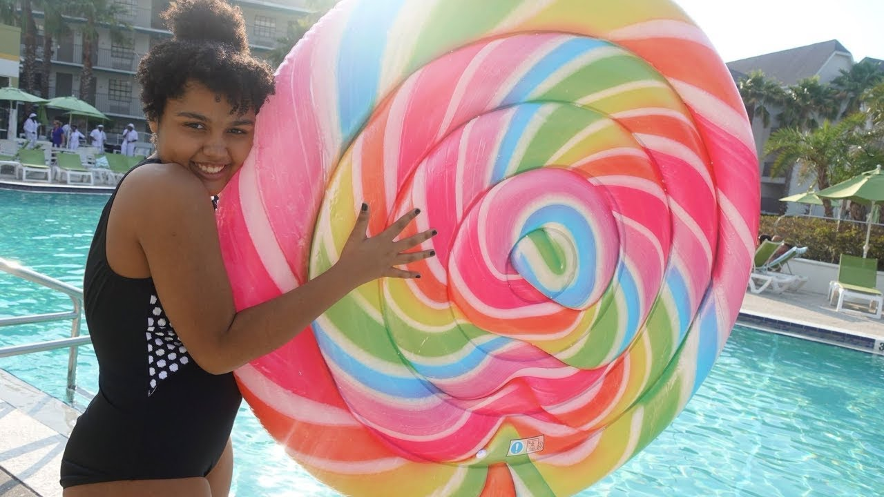 The Biggest Lollipop Pool Float Ever Youtube