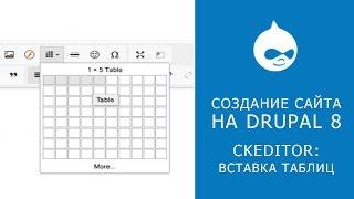 CKEDITOR В DRUPAL 8. Вставка таблиц через редактор.