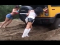 Girls Stuck in Mud 2017 Cars Stuck in Mud Compilation