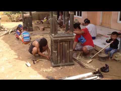 Gapura Minimalis Terbuat Dari Bambu Cara Membuat Gapura Bambu Kreatif Dan Unik 1 Youtube