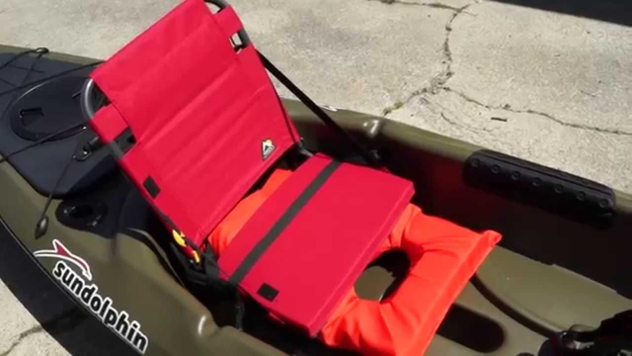 Kayak seat sun dolphin journey 12 ss youtube for Sun dolphin fishing kayak accessories