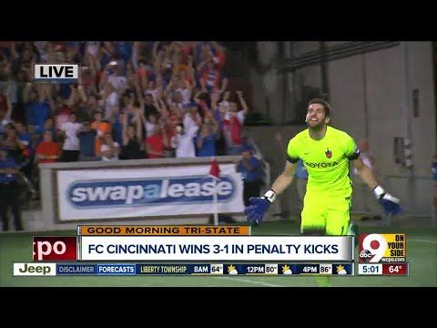 Hildebrandt's lightning-fast goalkeeping helps FC Cincinnati beat Chicago Fire 3-1 on penalty kicks