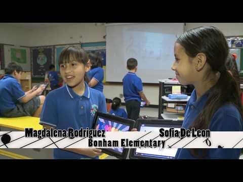 Learning music lessons using iPad -- Bonham Elementary in McAllen, Tx.