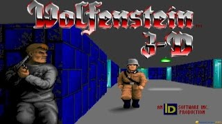 Wolfenstein 3D gameplay (PC Game, 1992)
