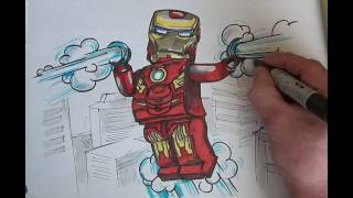 How to Draw LEGO Iron Man (PNG ART CHL)