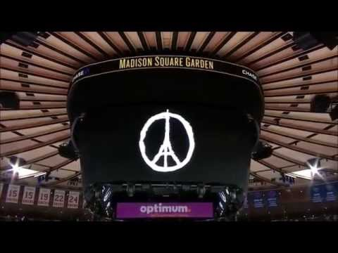 NHL & NBA teams pay tribute to victims of Paris attacks (compil)