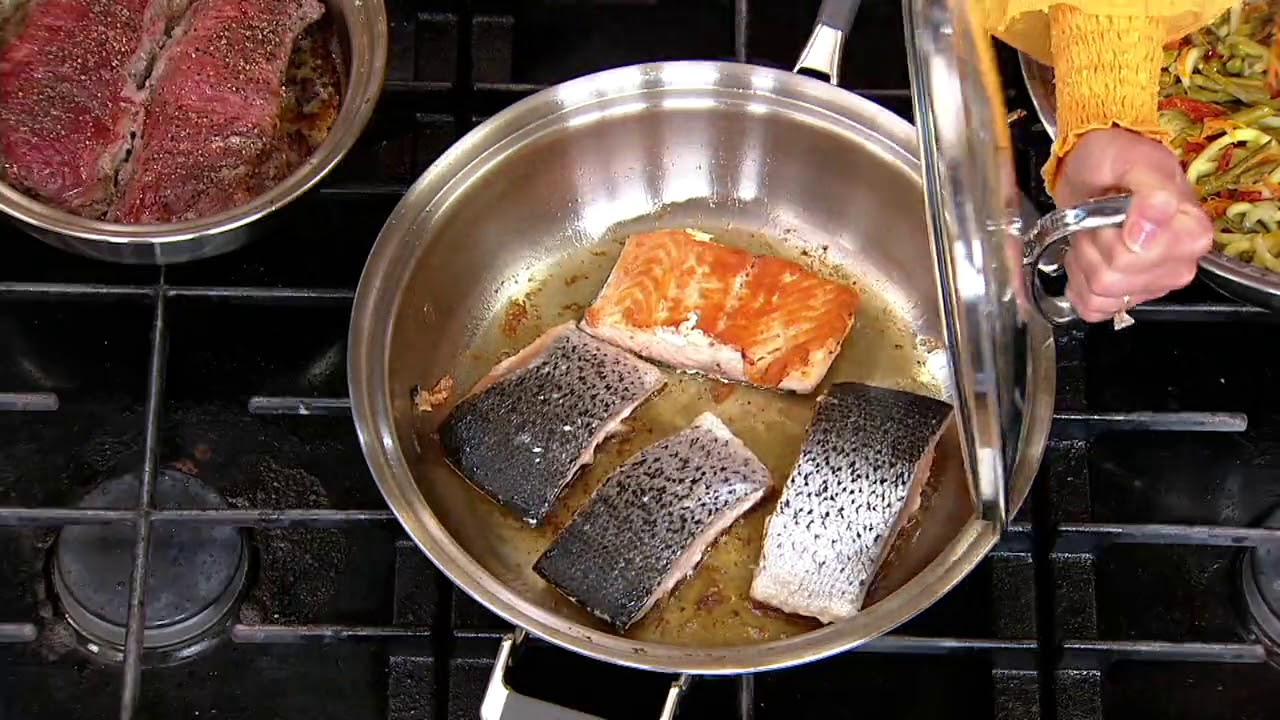 Cookcraft By Candace Cameron 4 Pc Tri Ply Stainless Steel Cookware Set On Qvc Youtube