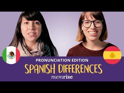 Spanish Differences: Pronunciation!