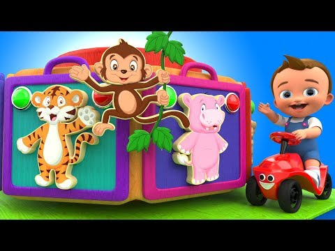 Learning Animals Names with Baby Matching Wooden Heads Puzzle 3D Kids Toddler Educational Toys