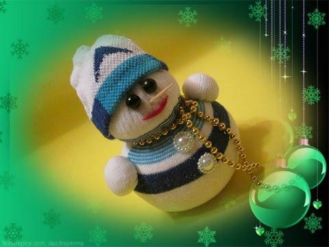 Снеговик из носка...