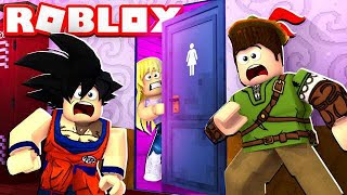 ROBIN HOOD ENTERS THE GIRLS ' BATHROOM ON THE FIRST DAY OF ROBLOX'S CLASS!!