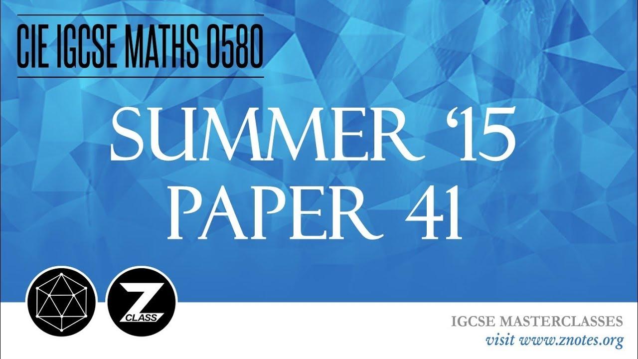 Igcse Maths Past Papers Pdf